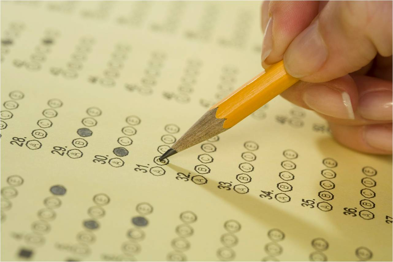 Filling out scantron